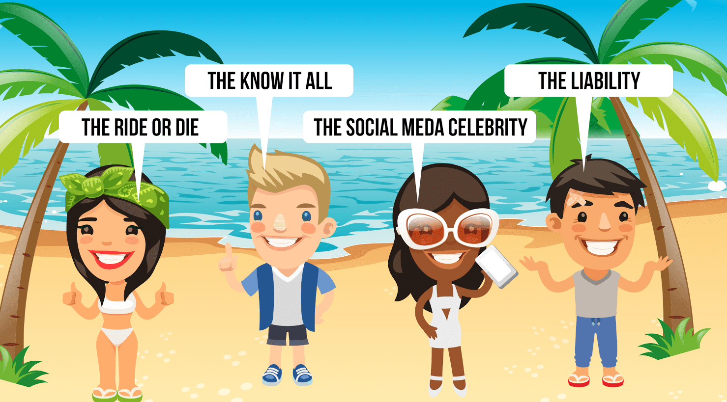 summer takeover's seven types of people